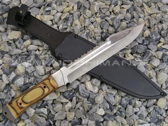 """Нож """"Рембо-1"""" сталь 65Х13, рукоять бакелит (Титов & Солдатова)"""