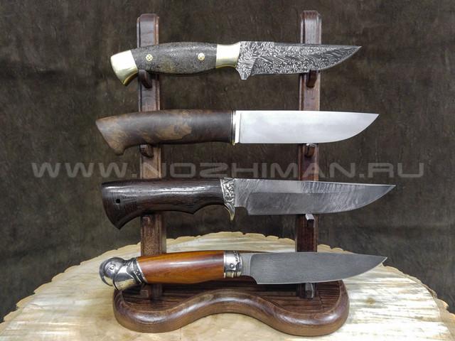 Деревянная подставка для 4-х ножей