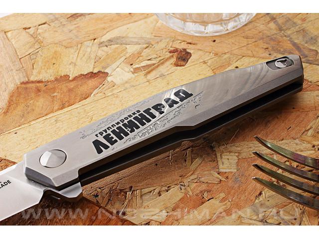 Mr.Blade нож Lance сталь M390, рукоять Titanium - Ленинград (Сергей Шнуров)
