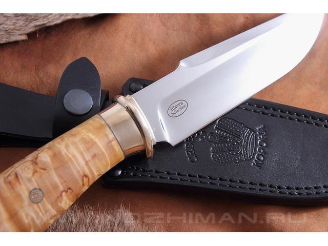 """Нож """"Шатун"""" Bohler N695, карельская береза"""
