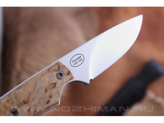 """Нож """"Боровик"""" Bohler N695, карельская береза"""