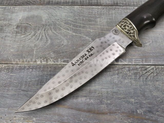 """Нож """"Ирбис"""" Алмазка ХВ5, граб, мельхиор"""
