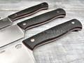 Набор из 3-х кухонных ножей, Bohler M390, карбон