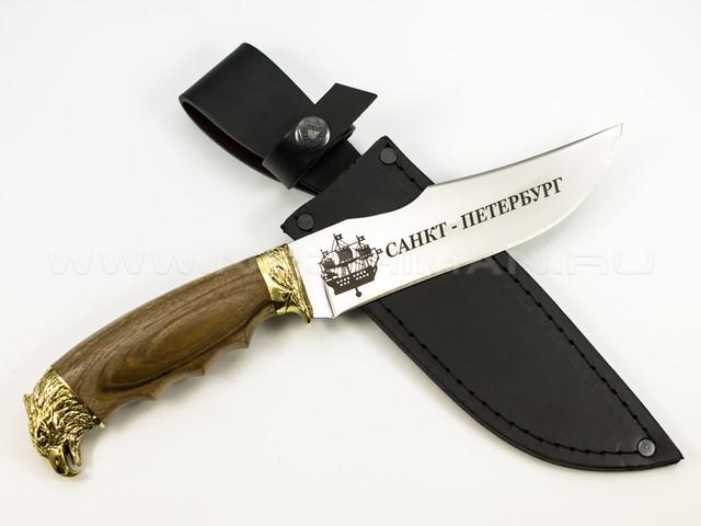 "Нож ""Сокол"" 65Х13, латунь, СПб"