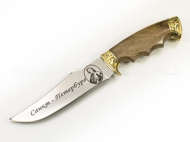 """Нож """"Скорпион"""" 65Х13, латунь, СПб"""