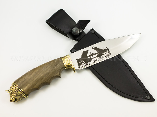 "Нож ""Бизон-2"" 65Х13, латунь, СПб"