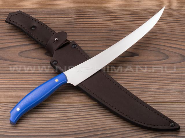 "Нож ""Филейный-БН"" сталь N690, рукоять G10 blue (Наследие)"
