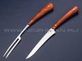 Набор для стейка (нож и вилка) N690, стаб. карельская береза