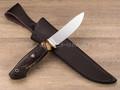 """Нож """"Скинер-М"""" Vanadis 10, стаб. карельская береза, бивень мамонта"""