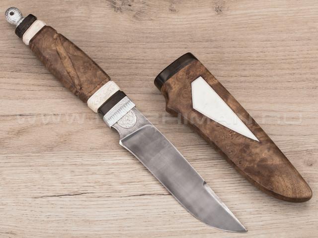 "Нож ""Кор-1"" булат, кап клёна, деревянные ножны"