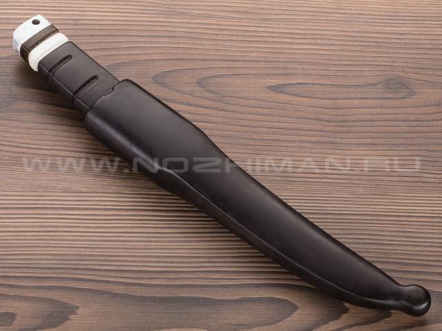 """Нож """"Кор-2"""" K340, граб, рог лося, деревянные ножны"""