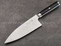 Нож Deba TR-D8 сталь VG10, рукоять G10 black