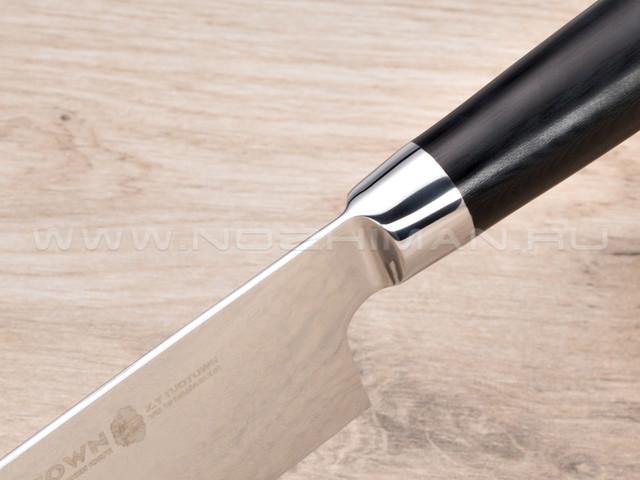 Нож Nakiri TG-D11 дамасская сталь VG10, рукоять G10 black