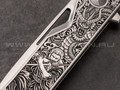 "Нож ""Keeper"" (Самурай и Дракон) M390, titanium"