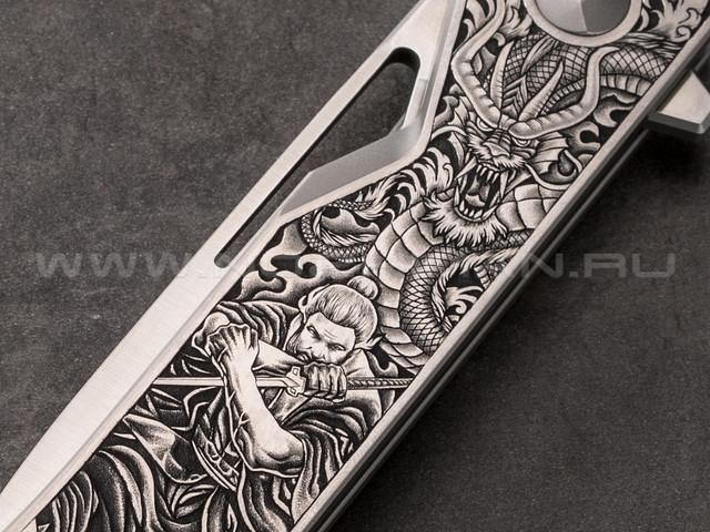 Mr.Blade нож Keeper (Самурай и Дракон) сталь M390, рукоять titanium