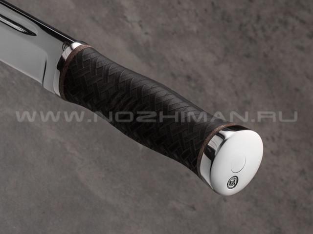 """Нож """"Горец-1"""" сталь 95Х18, рукоять резина (Титов & Солдатова)"""