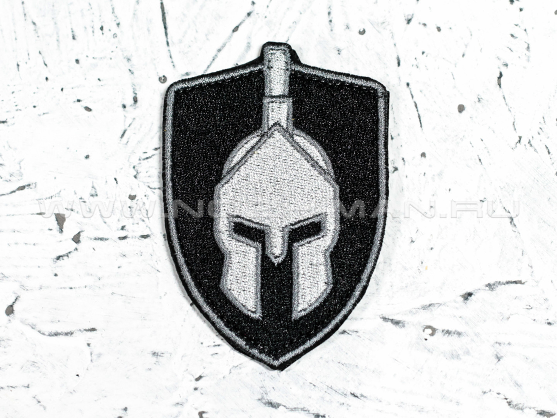 """Патч П-18 """"Щит Спартанец"""" серый"""