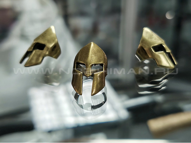 "Бусина ""Шлем спартанца"" латунь"