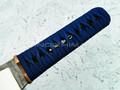 """Нож """"Бусидо"""" N690, цуба бронза, менука серебро, паракорд blue"""