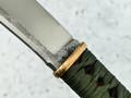"""Нож """"Пика-сан"""" N690, цуба бронза, серебро, паракорд"""