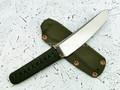 """Нож """"Бусидо"""" N690, цуба бронза, менука серебро, паракорд olive"""