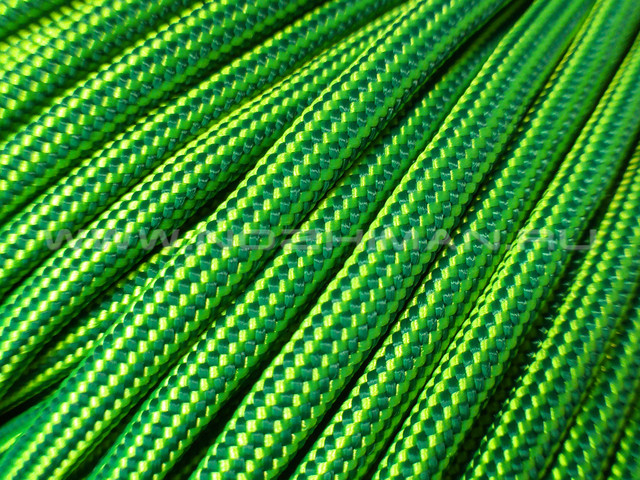 Paracord 550 Neon Yellow & Green Stripes