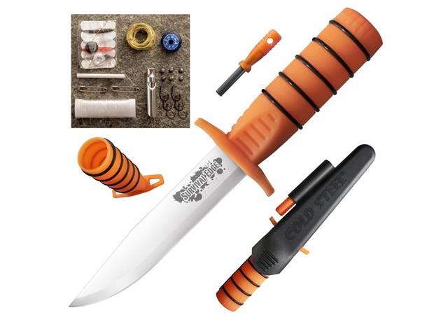 Нож Cold Steel 80PH Survival Edge (Orange) сталь 1.4116 рукоять Polypropylene