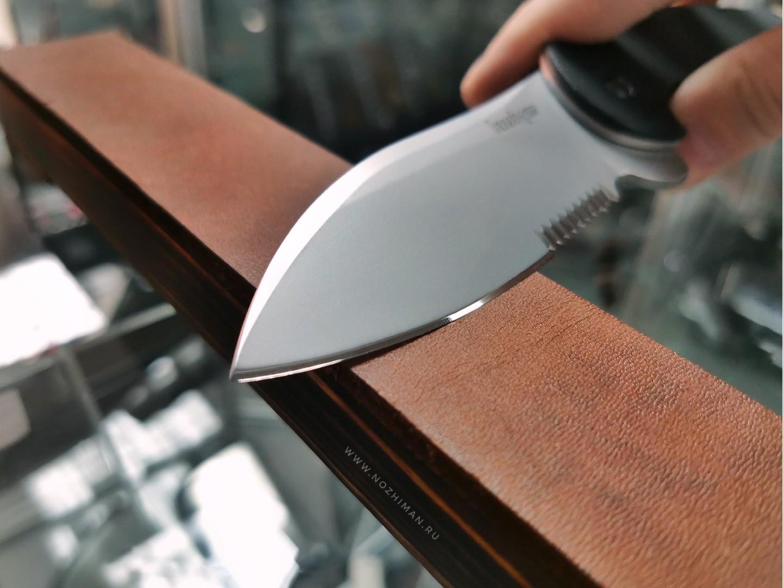 Доска с кожей для правки ножей и опасных бритв