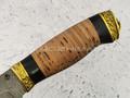 """Нож """"Кедр"""" дамасская сталь, рукоять береста (Федотов А. В.) 009Д21"""