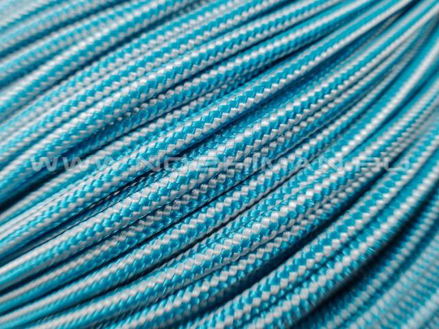 Minicord Caribbean & White Stripes