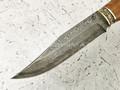 """Нож """"Олень-2"""" дамасская сталь, карельская береза, мельхиор (Федотов А. В.) 016Д64"""