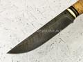 """Нож """"Таёжный-1"""" дамасская сталь, береста (Федотов А. В.) 023Д65"""