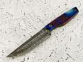 """Нож """"Фартовый"""" дамасская сталь,рукоять титан (Федотов А. В.) 102Д119"""