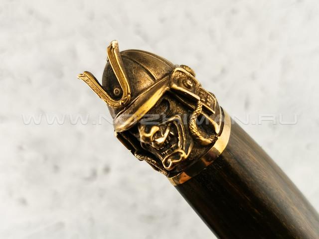 """Нож """"Сиг-3"""" дамасская сталь, ironwood, бронза (Федотов А. В.) 020М16"""