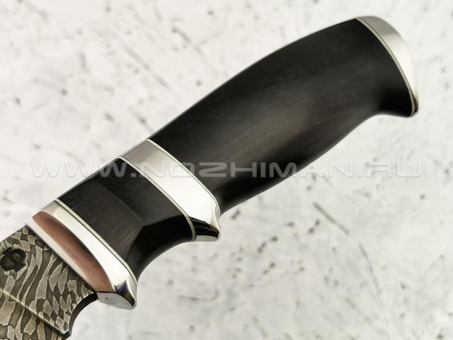 "Нож ""Клык"" дамасская сталь, рукоять граб (Федотов А. В.) 011Д325"