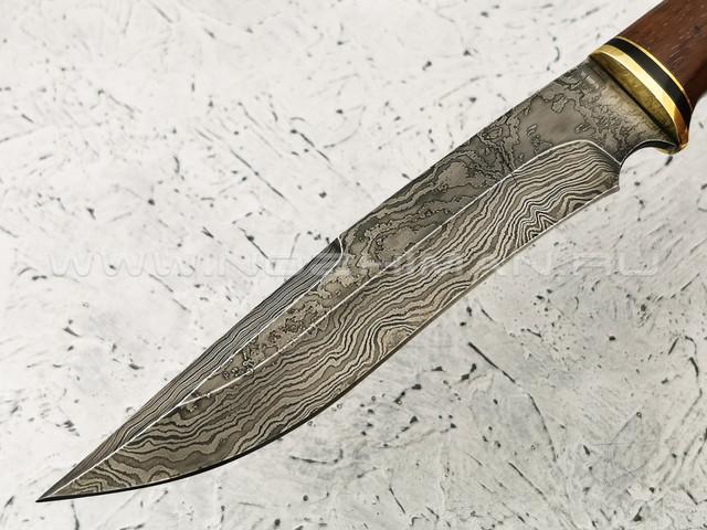 """Нож """"Пустынный орел"""" дамасская сталь, рукоять бубинга (Тов. Завьялова)"""