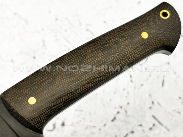 """Нож """"Бригадир"""" булатная сталь, рукоять микарта (Тов. Завьялова)"""
