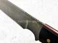 """Нож """"Крокер"""" булатная сталь, рукоять G10 black (Тов. Завьялова)"""