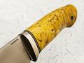 """Нож """"Панцуй"""" сталь CTS-XHP, рукоять карельская береза (Кметь)"""