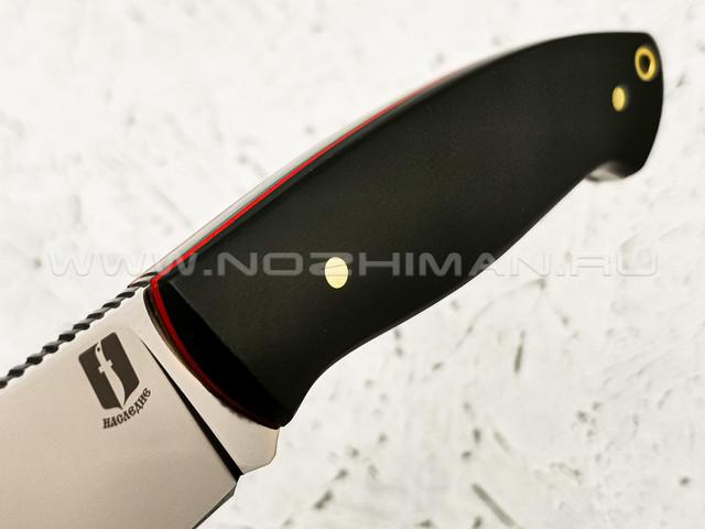 """Нож """"Рабочий"""" сталь Vanadis 10, рукоять G10 black (Наследие)"""