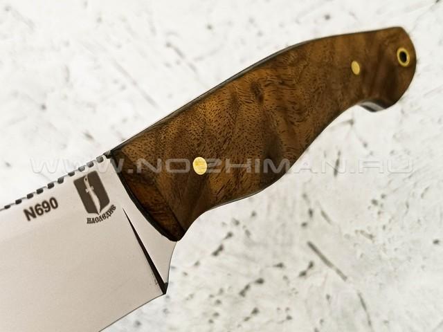 """Нож """"Додичи"""" сталь N690, рукоять корень ореха (Наследие)"""