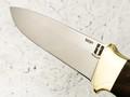 """Нож """"Боцман"""" сталь N690, рукоять корень ореха, латунь (Наследие)"""