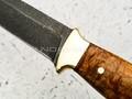"""Нож """"Боцман"""" булатная сталь, рукоять карельская береза, латунь (Наследие)"""