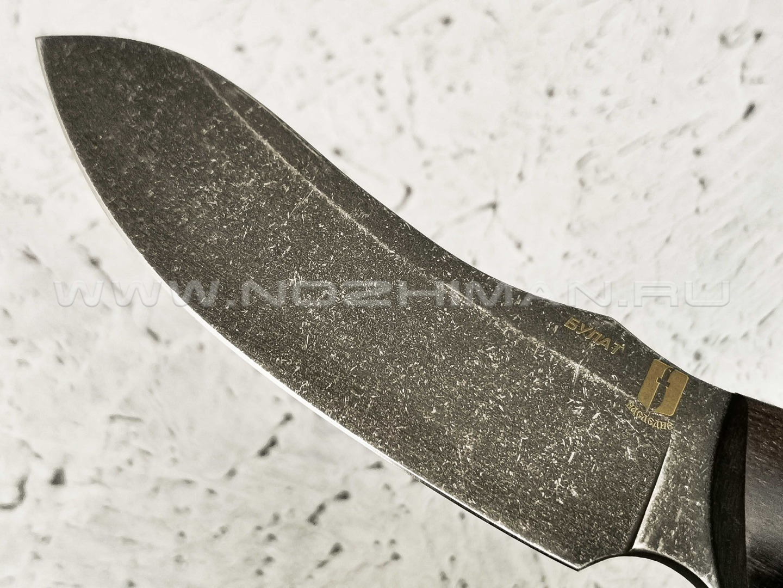 """Нож """"Че Гевара"""" булатная сталь, рукоять березовый кап (Наследие)"""