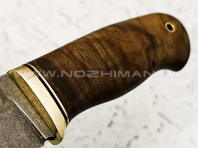"""Нож """"Шаман"""" булатная сталь, рукоять корень ореха (Наследие)"""