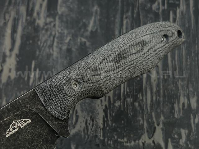 N.C.Custom нож Tracker сталь N690 blackwash, рукоять микарта, ножны kydex