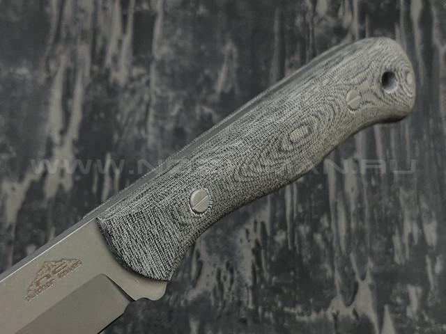 """N.C.Custom нож bushcraft """"Flint"""" сталь PGK, рукоять микарта, огниво"""