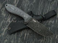 "Нож ""Crony"" сталь N690 blackwash, рукоять микарта, ножны kydex"