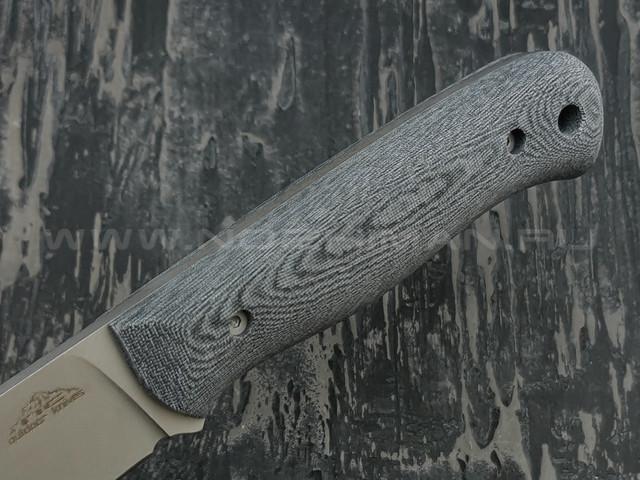 N.C.Custom нож Booster сталь X105 stonewah, рукоять микарта, ножны кожа