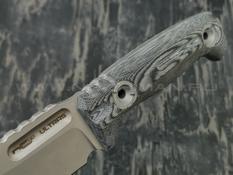N.C.Custom нож Ultras (Arhadyr) сталь D2 stonewash, рукоять микарта